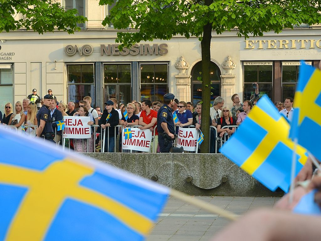 Swedish Democrat supporters