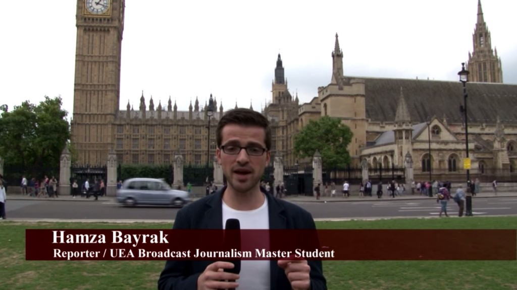 UEA Broadcast Journalism student