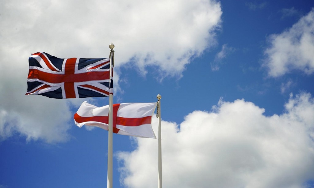 English and Union Flag