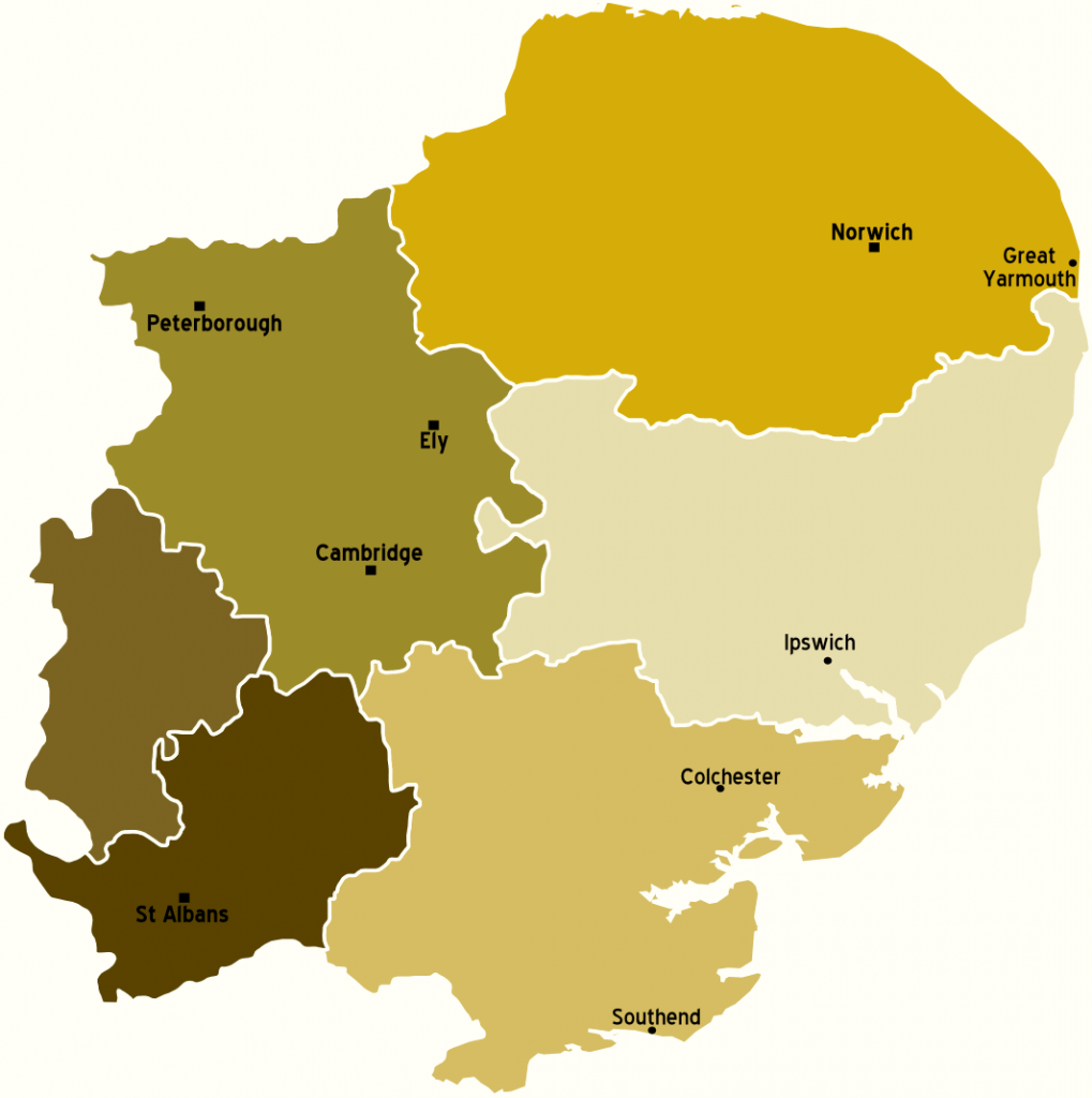 Map Of England East Anglia.Devolution To The East Eastminster A Global Politics Policy Blog