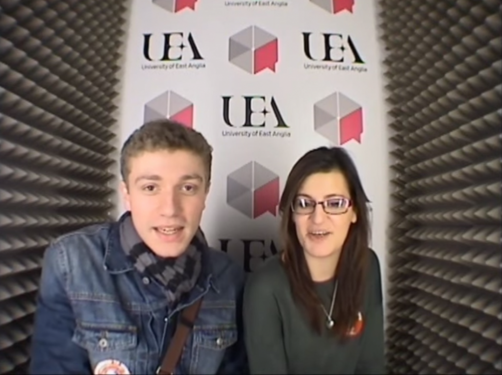 Election Diary Room at UEA