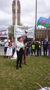 Lisa Smith at the Dosta, Grínta, Enough!' Rally