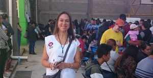 Hazel Marsh observing voting at polling station in Huehuetoca, Mexico State, 1 July 2018 (Photo: Hazel Marsh)